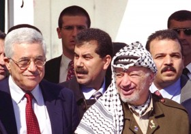 "PRIME MINISTER EHUD BARAK & FOREIGN MINISTER DAVID LEVY (L) MEETING PALESTINIAN AUTHORITY CHAIRMAN YASSER     ARAFAT, AT THE EREZ CHECKPOINT.????? ??? ?????? ???? ??? ??? ???? ??? ??? (?????) ?? ??""? ????? ?????????       ???? ????? (?? ?????), ?????? ??? ?????? ???.  ?????, ??? ??? ?????? ?????,      ??? ????."