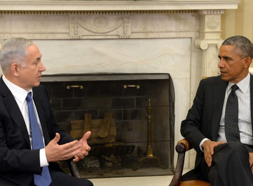 Netanyahu at white house (avi ohayonprime ministers office)