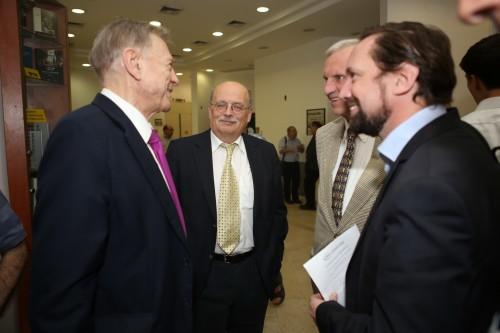 Photo: Ambassador Avi Primor, Prof. Joachim Krause, Maj. Gen. (ret.) Dr. Klaus Wittmann and Dr. Michael Borchard.