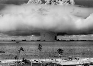 Iran vs Israel - Page 15 The-Baker-explosion-part-of-Operation-Crossroads-a-nuclear-weapon-test-by-the-US-military-at-Bikini-Atoll-Micronesia-25-July-1946.-Image-by-US-DOD-via-Wikipedia-300x215
